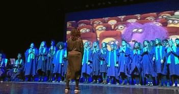 Alumnos y alumnas del Conservatorio de Isla Cristina
