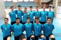 Equipo juvenil de voleibol de Aracena.