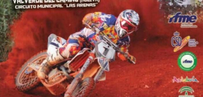 Cartel del Campeonato de España de motocross en Valverde del Camino
