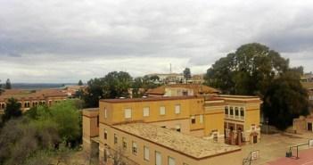 Nubes en el cielo de Huelva