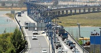 Imagen de archivo del puente del Odiel, en Huelva.