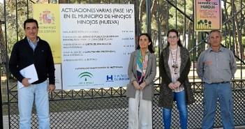 Visita obras PROFEA Hinojos