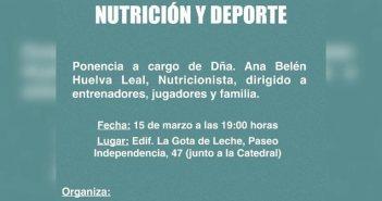 Cartel de las  III Jornadas de Nutrición y Deporte.