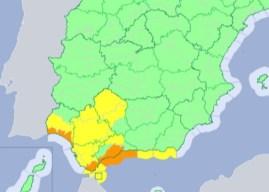 La alerta naranja por lluvias es hasta las 18.00 horas
