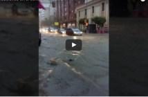 Inundaciones en el centro de Huelva.