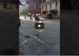 Espectacular vídeo de las inundaciones en el centro de Huelva