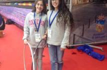 Sofía y Paloma, gimnastas del Rítmico Colombino.