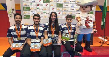IES La Orden en el Campeonato de España absoluto de bádminton.