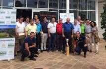 Equipo de Huelva en el Torneo Interregional de golf.