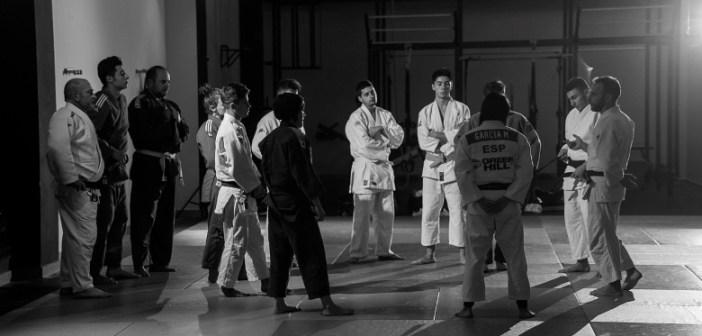 Jóvenes judocas del Huelva TSV.
