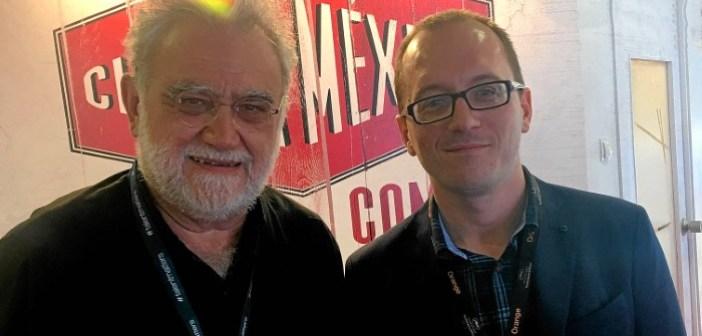 IvanTrujillo y Manuel H Martin en el Stand Mexico en Cannes