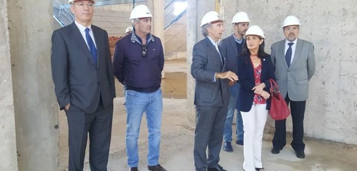 Subdelegada visita obras nueva lonja Puerto Huelva