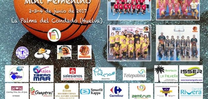 Cartel de la fase final de minibasket en La Palma del Condado.