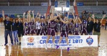 Sant Adriá, campeón de España cadete femenino de baloncesto.