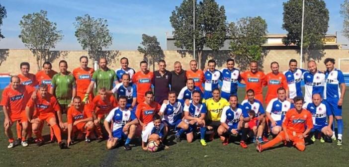170613 Foto de Familia Veteranos CD San Juan y RCR Huelva