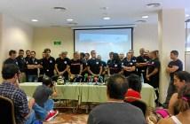 Bomberos del Consorcio Provincial en rueda de prensa