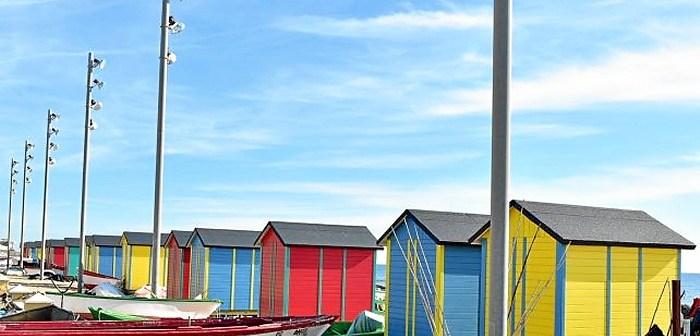 Casetas de playa en La Antilla