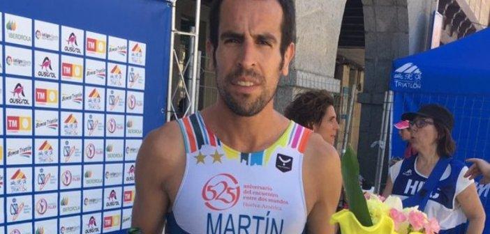 Emilio Martín, campeón de España de duatlón cross.