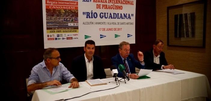 Presentación de la Regata Internacional de piragüismo del río Guadiana.