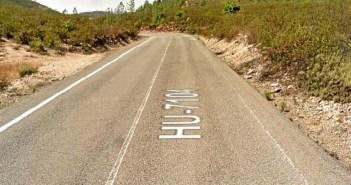 Imagen de la carretera HU-7104.