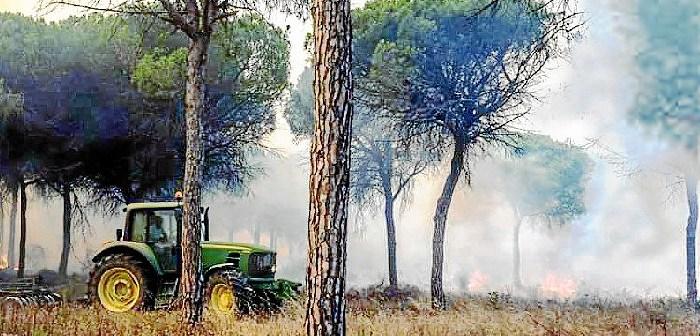 agricultores incendio