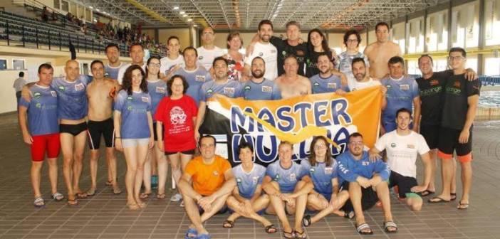 El CD Máster Huelva en el Campeonato de Andalucía de natación.
