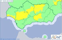 Aviso amarillo en la costa de Huelva.