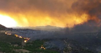 Vista general incendio en Riotinto