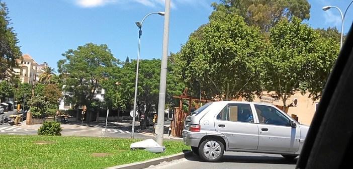 Accidente en la rotonda Ivonne Cazenave (1)