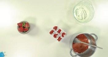 polos yogur y fresa