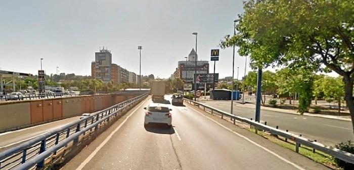 Imagen de archivo de uno de los accesos a Huelva desde el puente del Odiel.