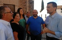 Antonio Maillo con los alcaldes de Zufre y La Granada de Riotinto, hoy en Zufre