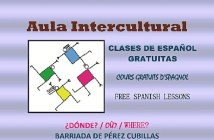 Cartel Aula Intercultural 2017-2018. Idiomas