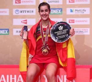 Carolina Marín, campeona en Japón.