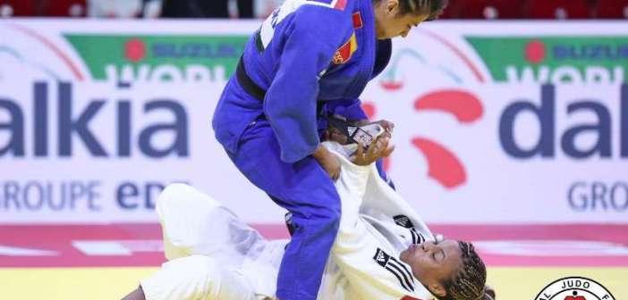 Cinta García, en el Campeonato del Mundo de judo.
