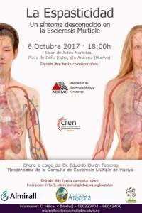 Cartel charla esclerosis Aracena.