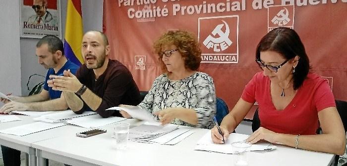 Mesa de la Conferencia Provincial PCA Huelva 14 octubre 2017