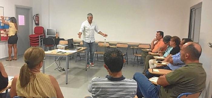 Rufino Romero intereviene en un Foro Informativo en Aljaraque