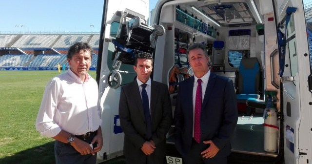 Convenio entre el Consorcio de Transporte Sanitario y el Recreativo de Huelva.