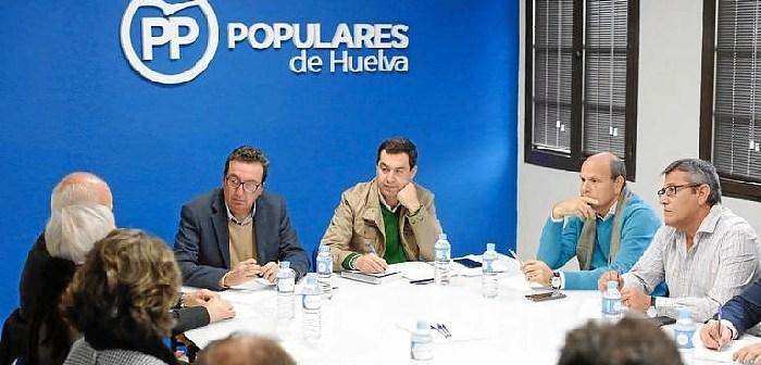 Juanma Moreno en Huelva