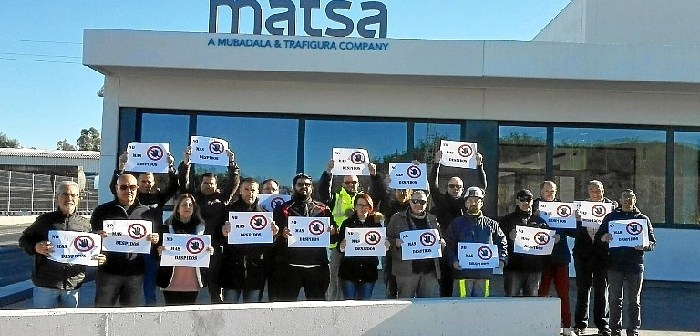 Protesta por despidos en Matsa