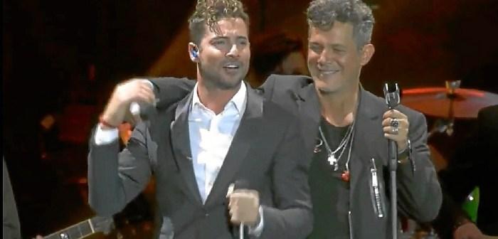 David Bisbal actuó en el concierto especial del Calderón de Alejandro Sanz (Fuente: feelthelive)