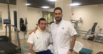 David de Miranda con el Fisioterapeuta