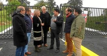 Responsables del PSOE en el parador de Ayamonte