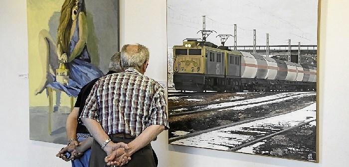 exposicion de las obras participantes en el IV premio de pintura