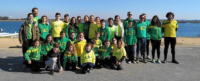 Equipo Tartessos participante en la I  Regata CDN Punta Umbria