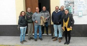 Rafael Sánchez Rufo con el equipo de gobierno de IU en Encinasola