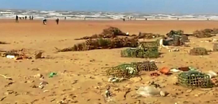 suciedad temporal playa punta