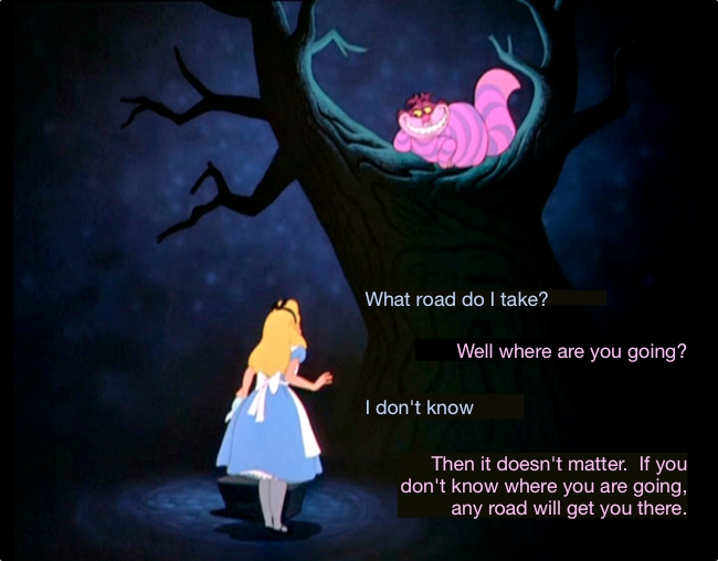 Example of a conversation from Alice in Wonderland