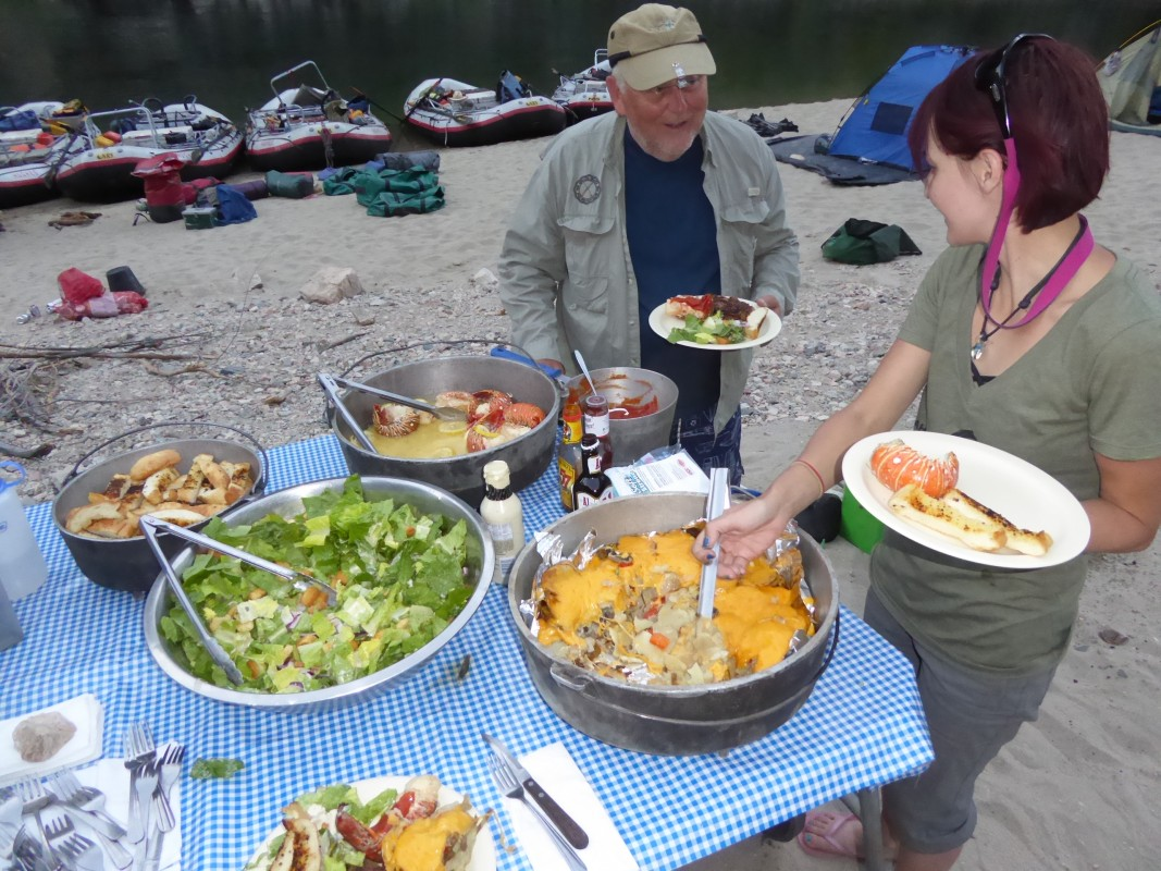 Classic Table Side Dishes Our River Menu Hughes River Expeditions